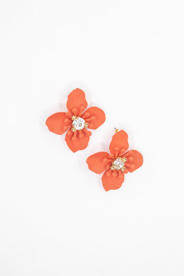 Poppy Flower Earring