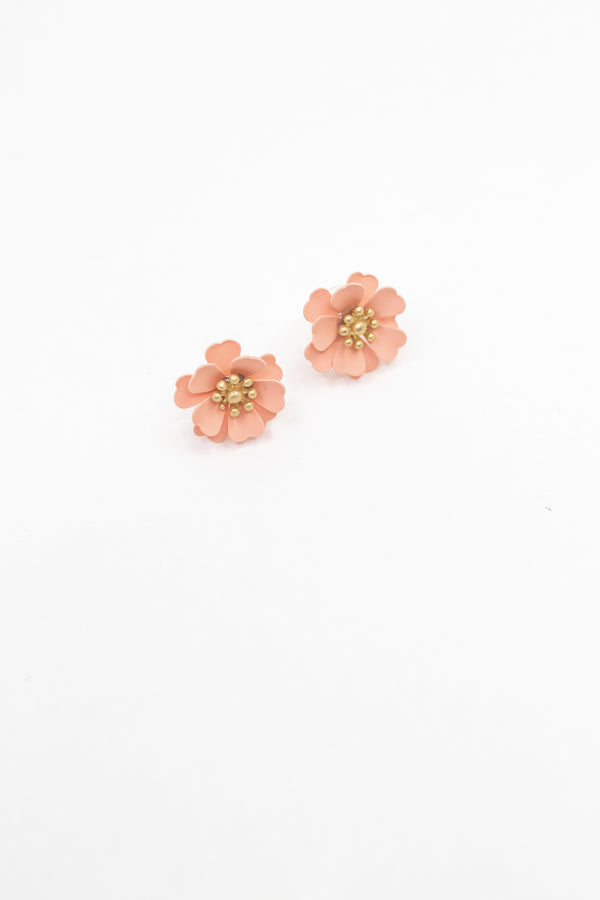 Peachy Mini Floral Earring