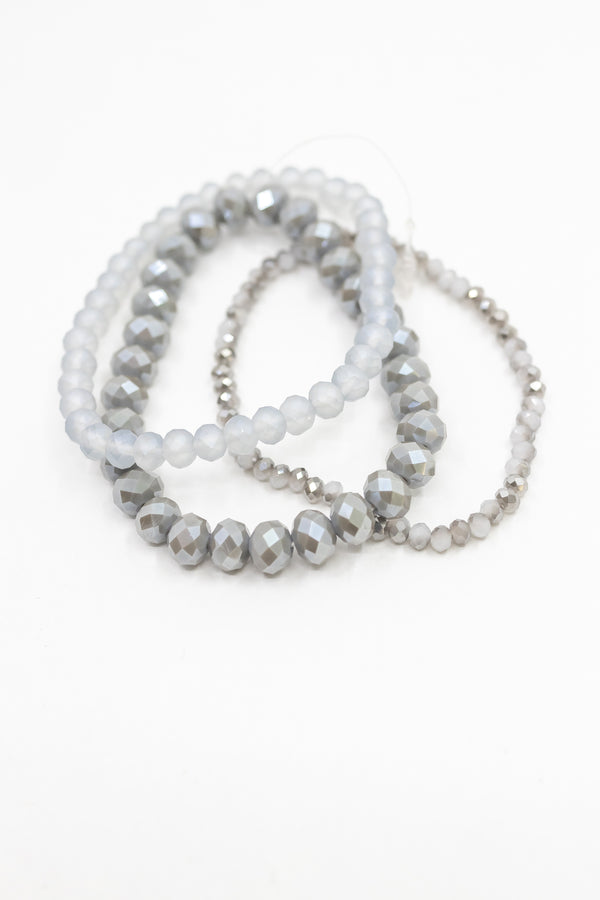 Grey Skies Bracelet Stack
