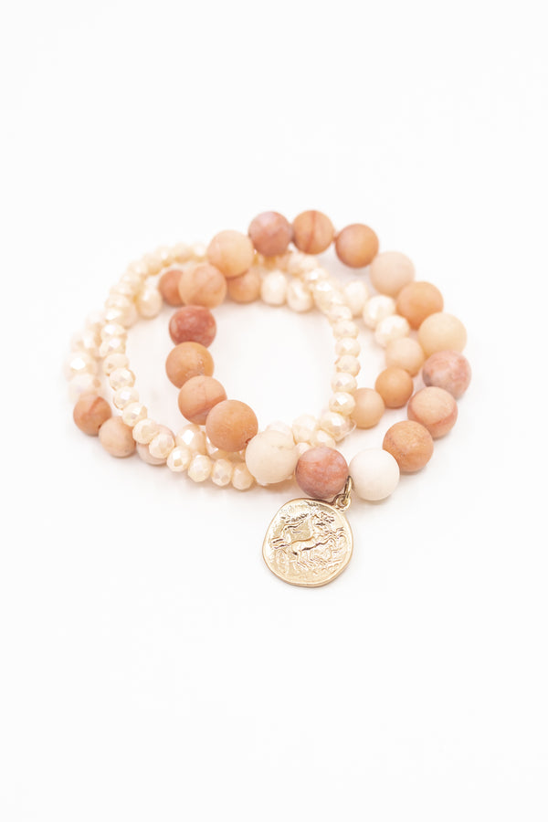 Just Peachy Bracelet Stack