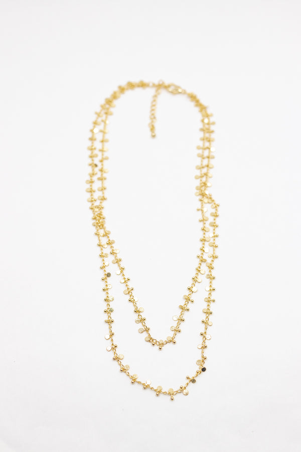 Disk Double Layered Necklace