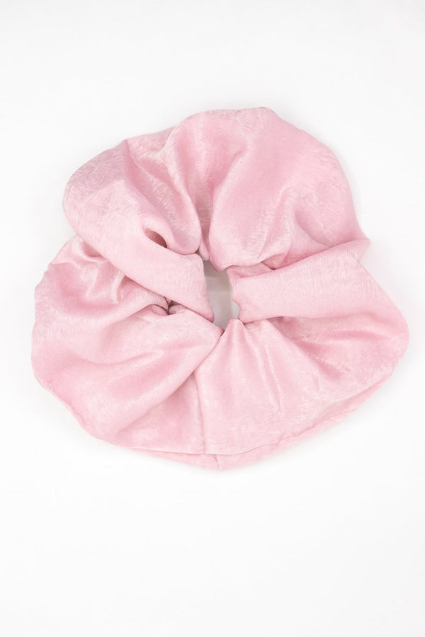 Satin Super Scrunchie Pink