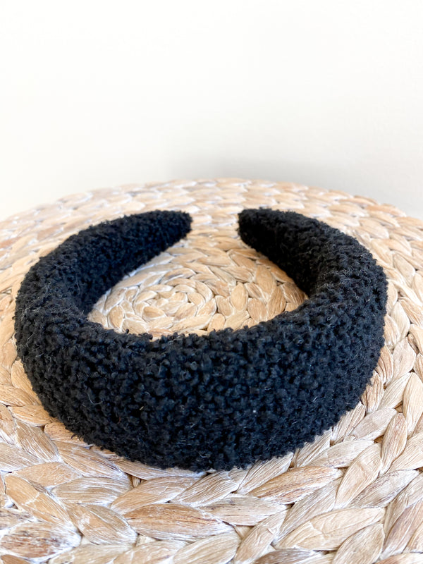 Black Sherpa Headband