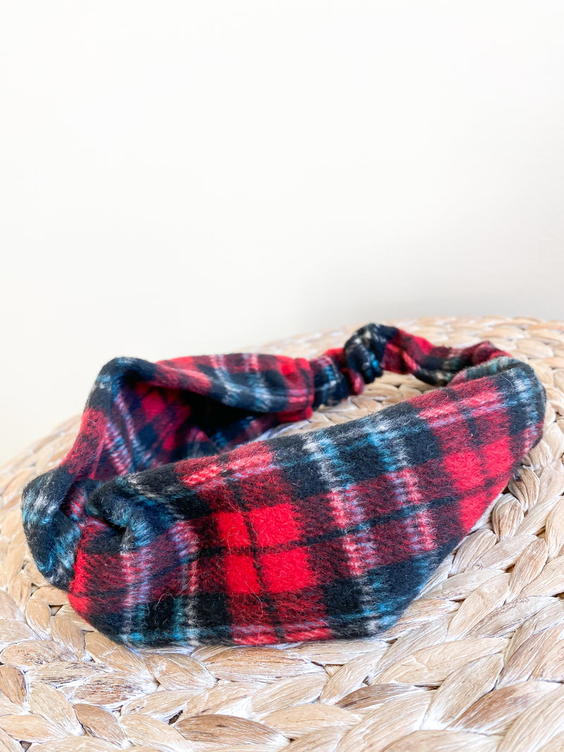 Plaid Flannel Wrapped Headband