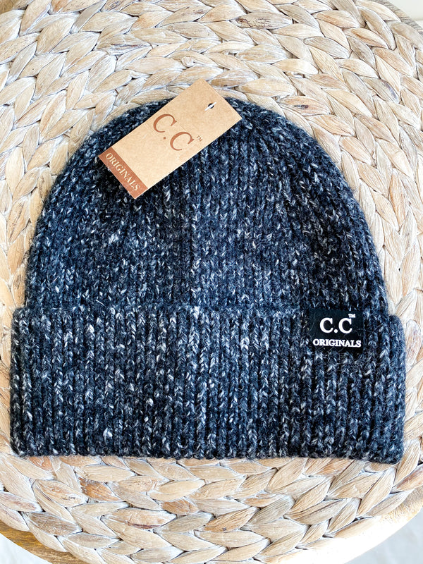 Charcoal Speckled Beanie