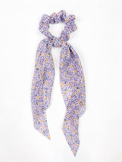 Lavendar Floral Hair Scrunchie