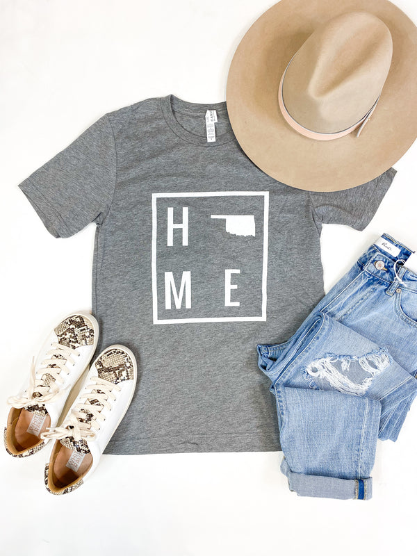 HOME Heather Grey Oklahoma Tee