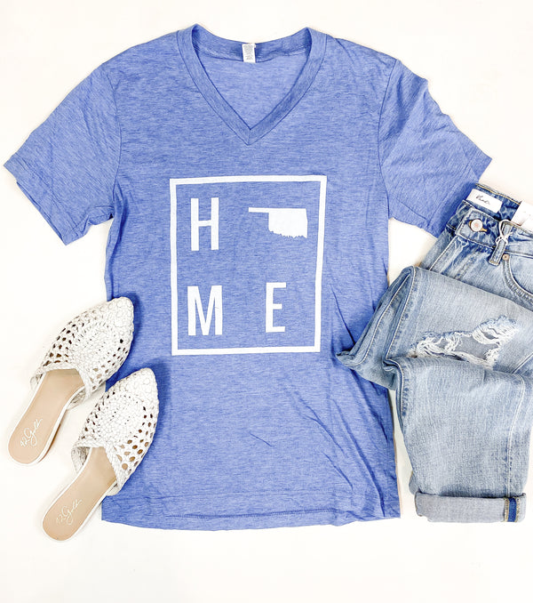 HOME Light Blue Oklahoma Tee