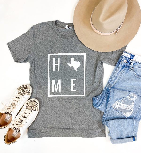 HOME Heather Grey Texas Tee
