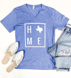 HOME Light Blue Texas Tee
