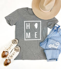 HOME Heather Grey Illinois Tee