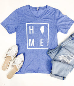 HOME Light Blue Illinois Tee