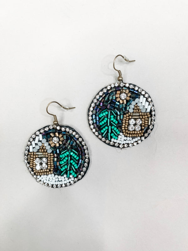 Silent Night Drop Earring