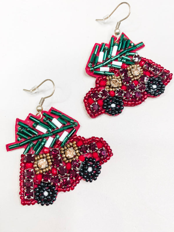 Christmas Tree Drop Earring