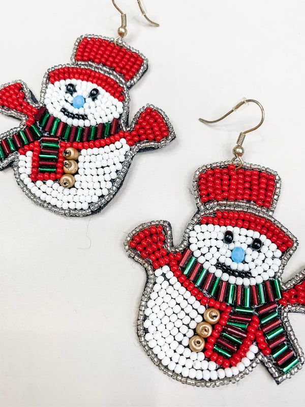 Snowman Drop Earring