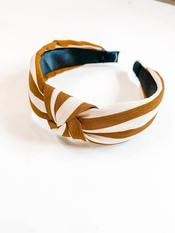 Knotted Striped Headband