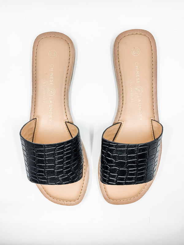 Regina Black Leather Sandal