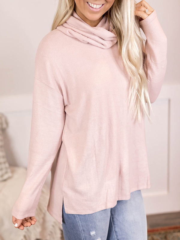 Buttery Soft Blush Cowl Tunic