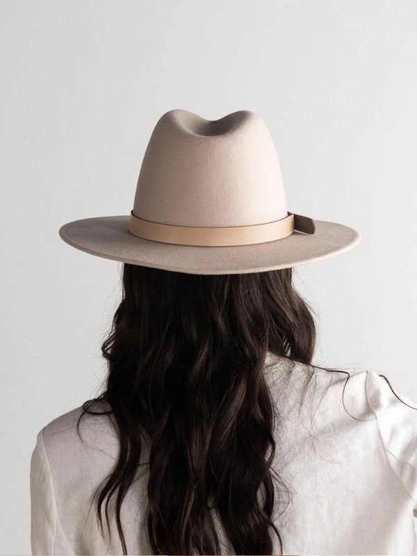 SHILOH - SUMMER BLUSH FEDORA WITH LEATHER BAND