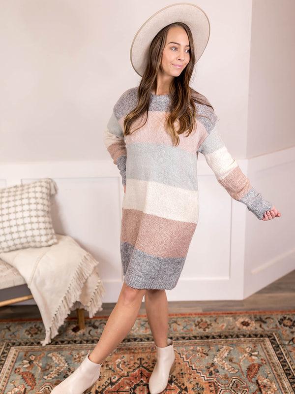 Elissa Stripe Sweater Dress