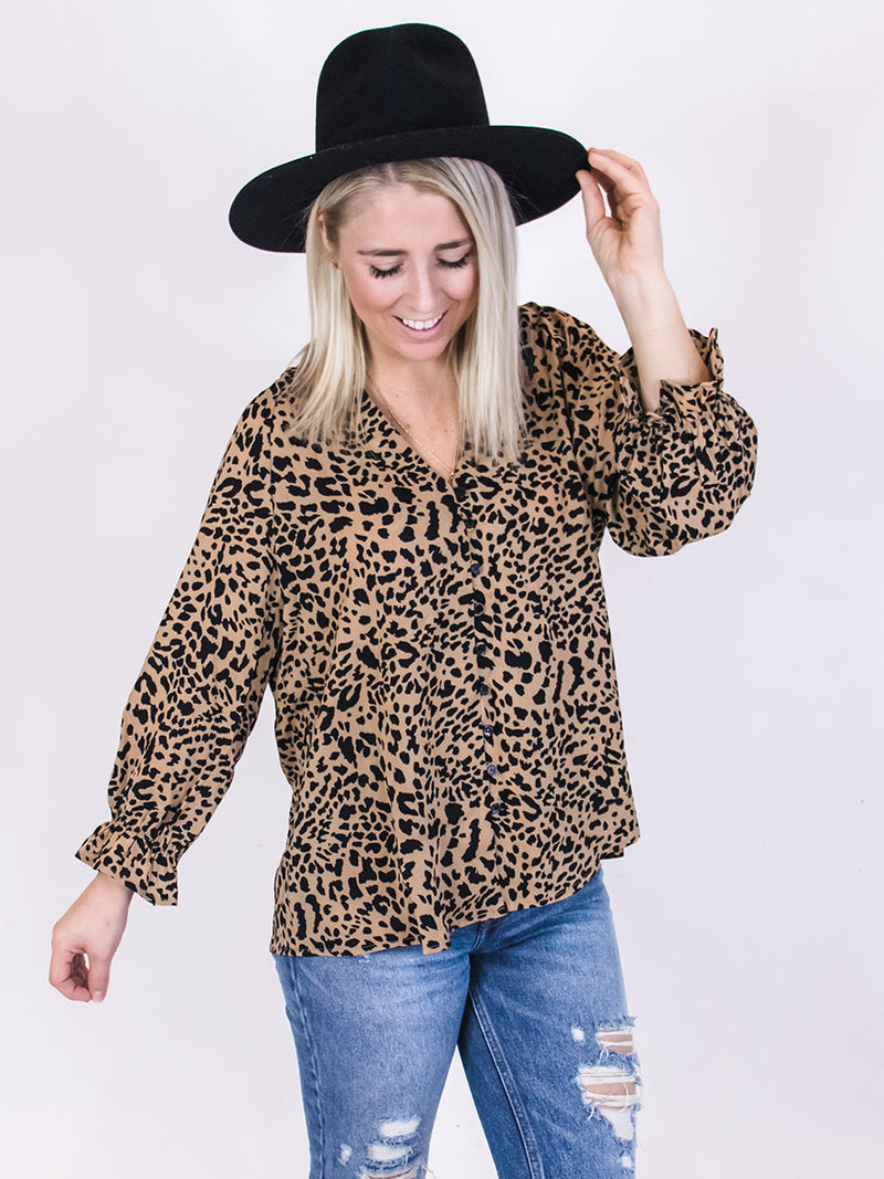 Chelsea Cheetah Blouse
