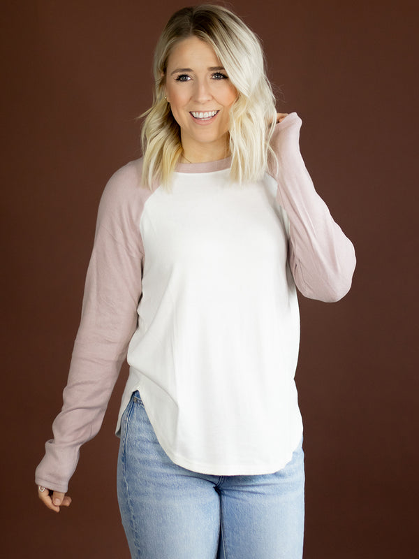 Everyday Blush Baseball Tee