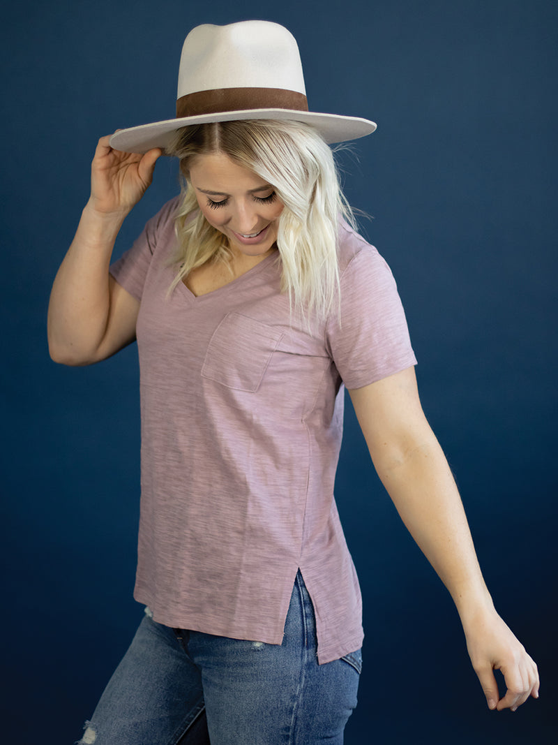 Everyday Mauve Pocket Tee