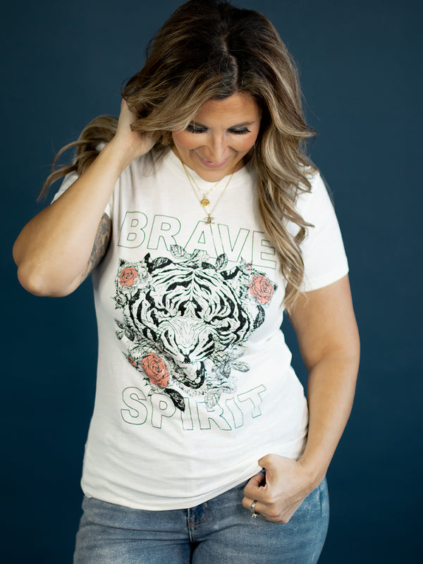 Brave Spirit Tiger Graphic Tee