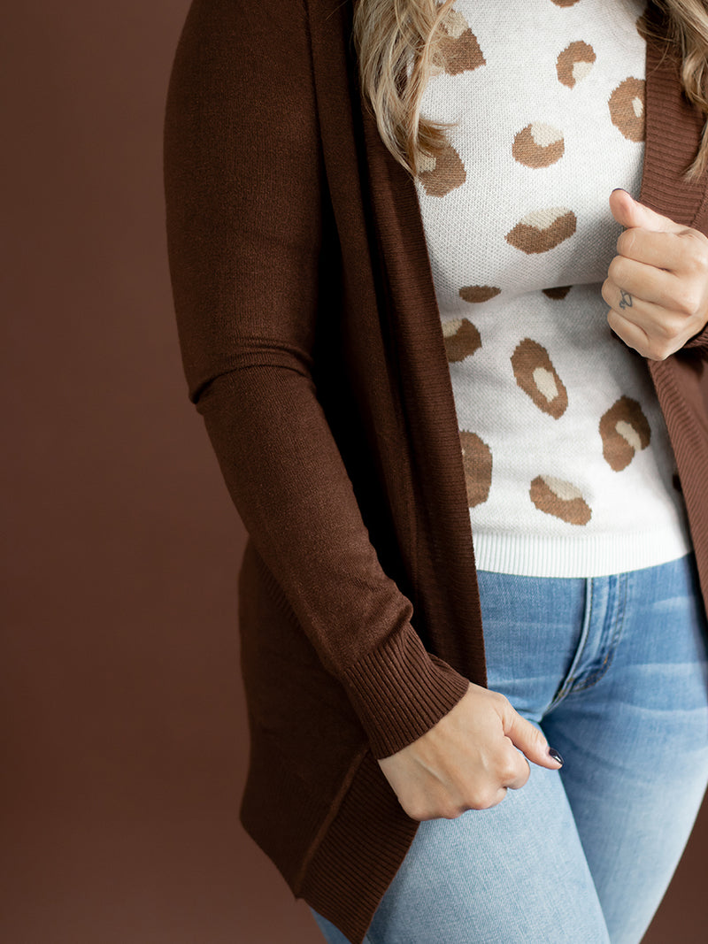 Mocha Pocket Cardigan