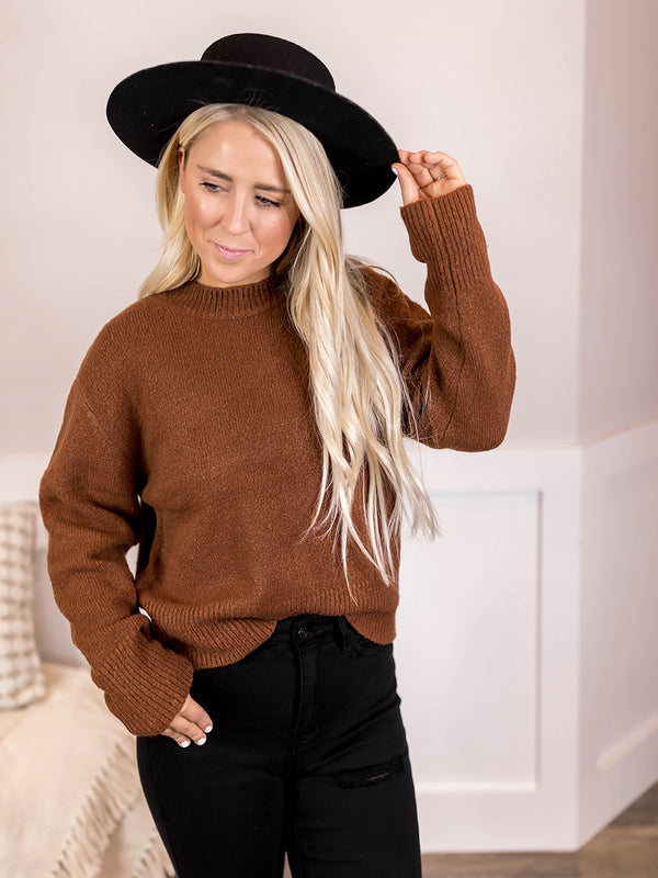 Hazelnut Crew Sweater