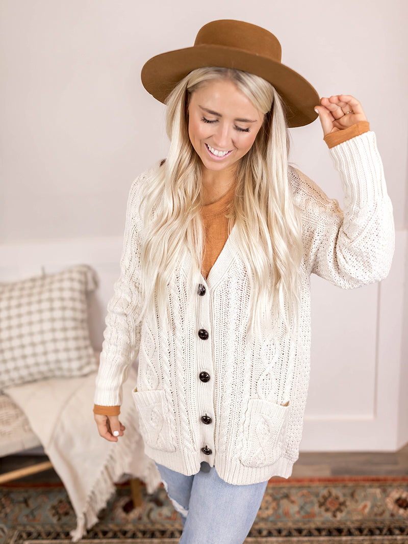 Billie Cable Knit Cardi