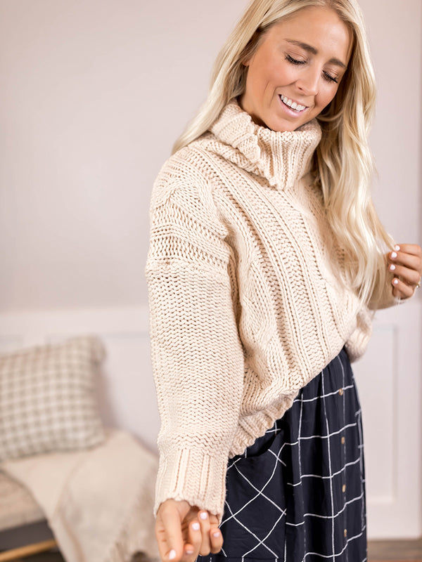 Two Tone Oatmeal Sweater