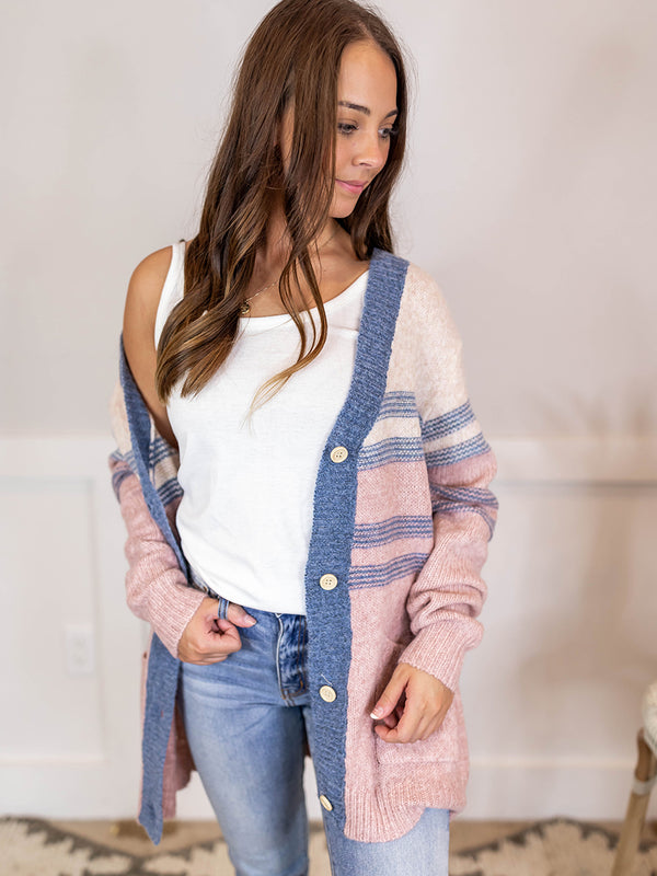 Hudson Stripe Knit Cardigan