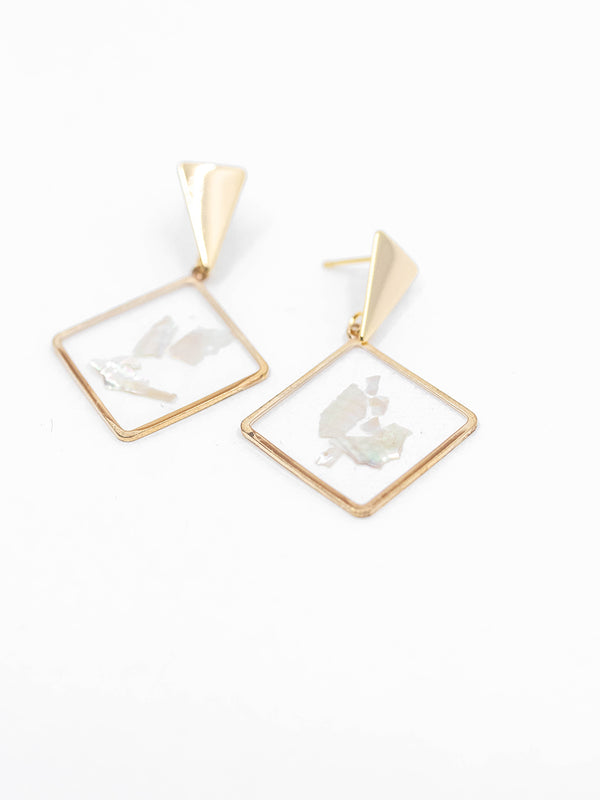 Clear Drop Earring