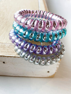 Iridescent Coil Hair Ties