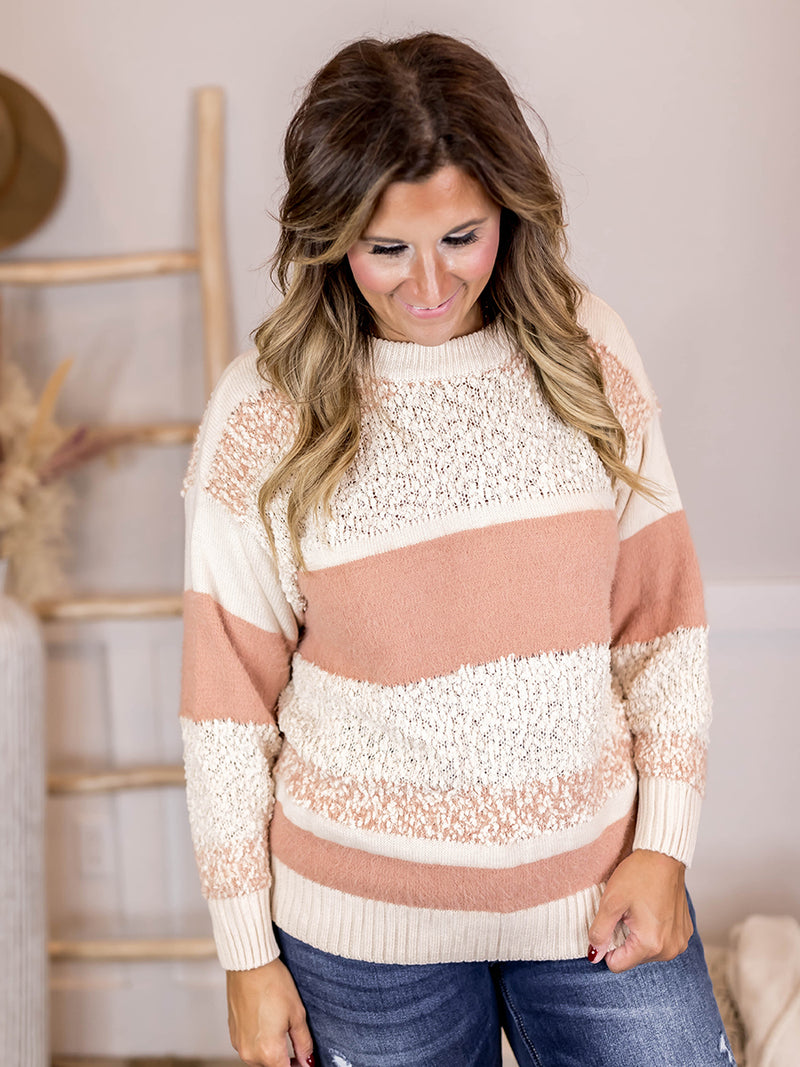 Nadia Pink Textured Sweater