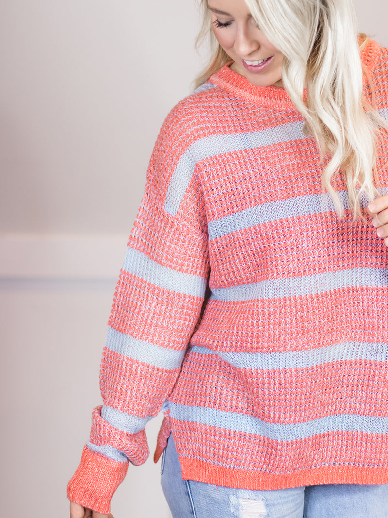 Abby Coral Knit Sweater