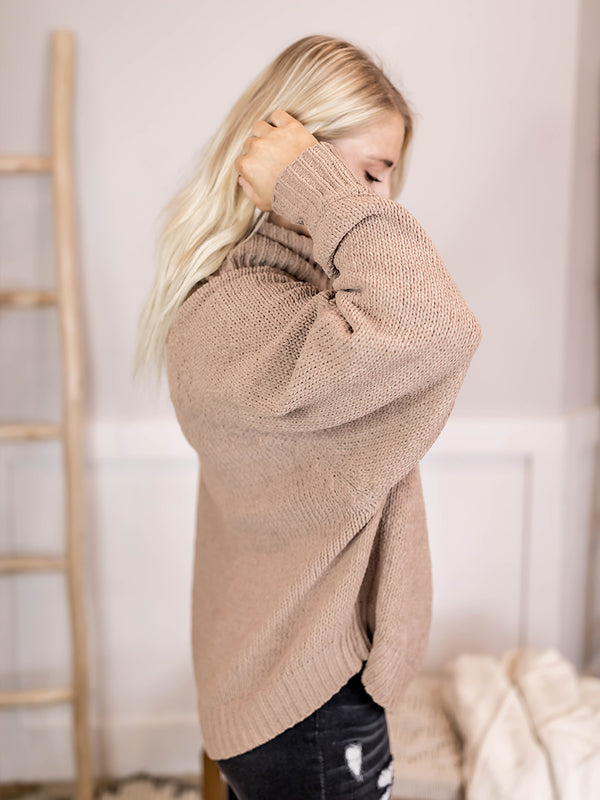 Rockwell Cable Knit Turtleneck