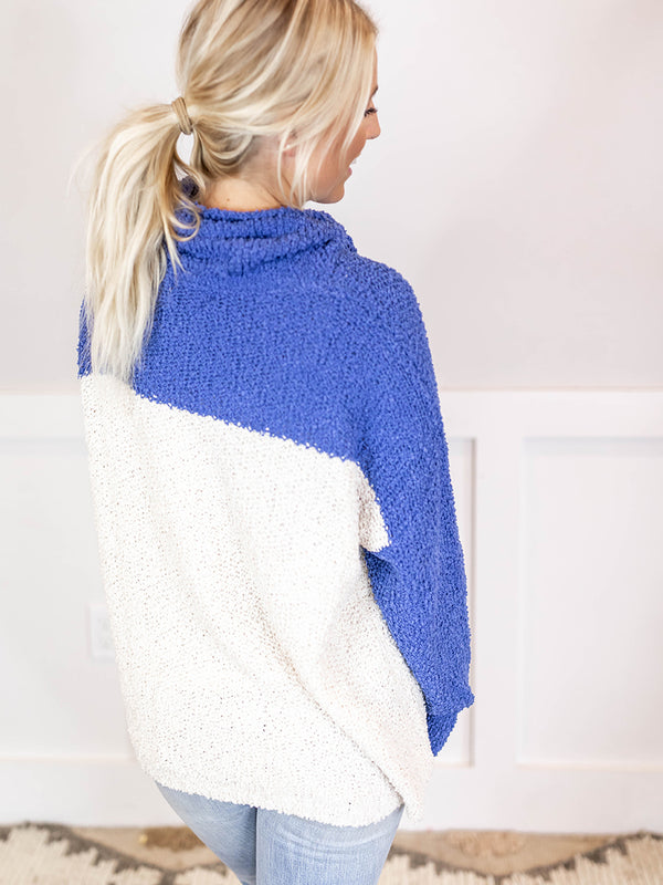 Gina Popcorn Cowlneck Sweater
