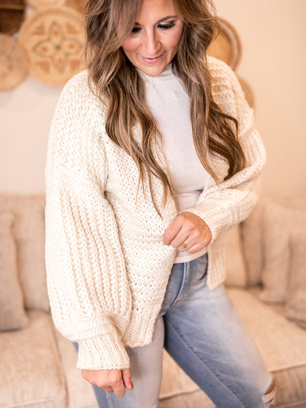 Toasted S'more Loose Knit Cardi