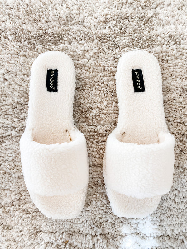 Ivy Cream Sherpa Slippers