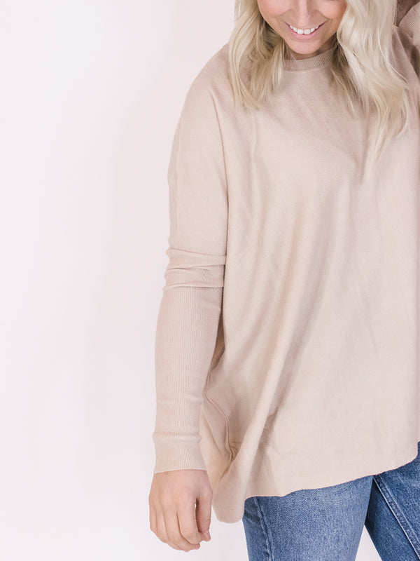Cream Soft & Classic Sweater
