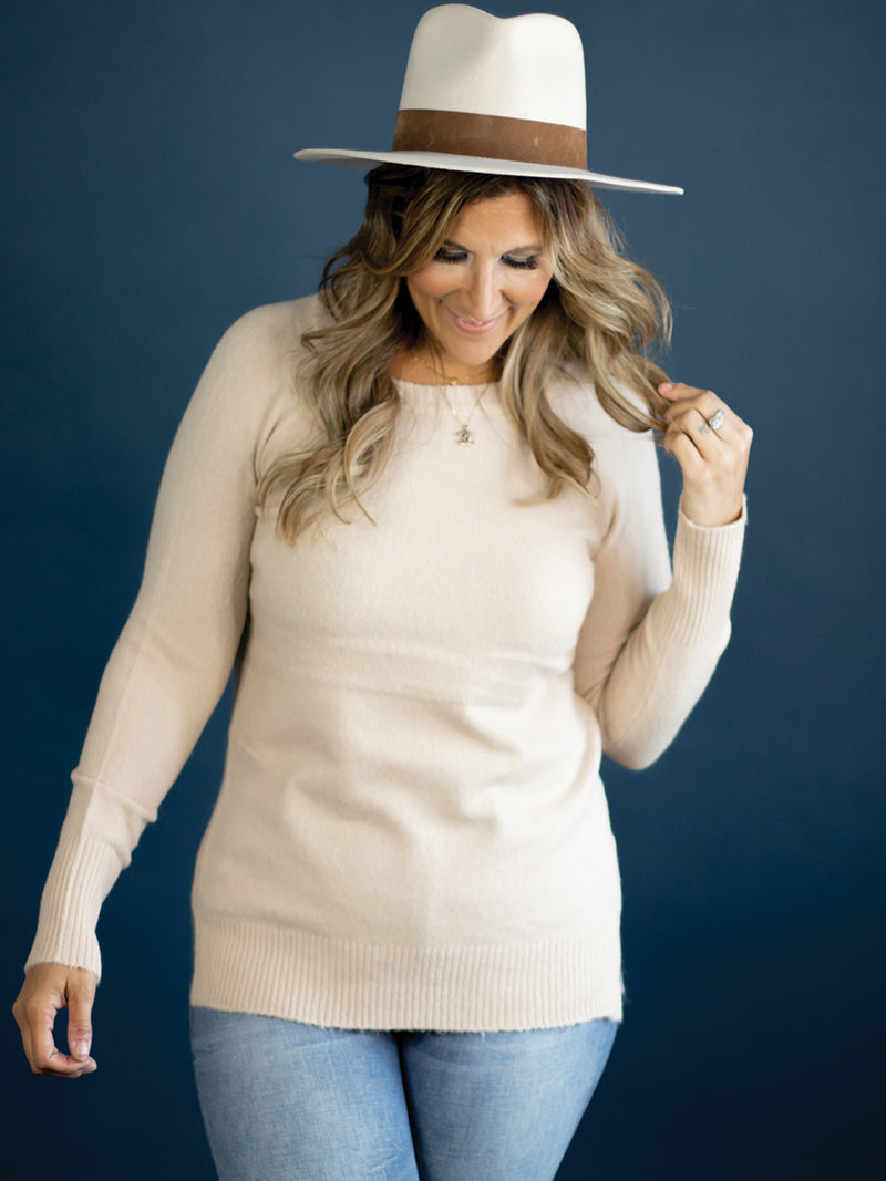 Emilie Soft Beige Sweater