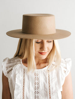 Gigi Pip Dahlia Tan - Women's Hat