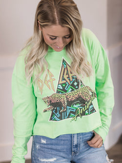 Def Leppard Neon Lime Long Sleeve