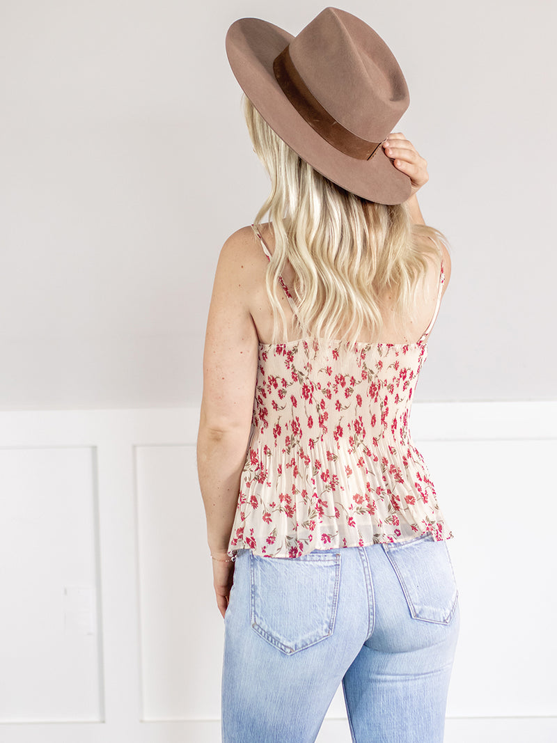Marley Pleated Floral Tank