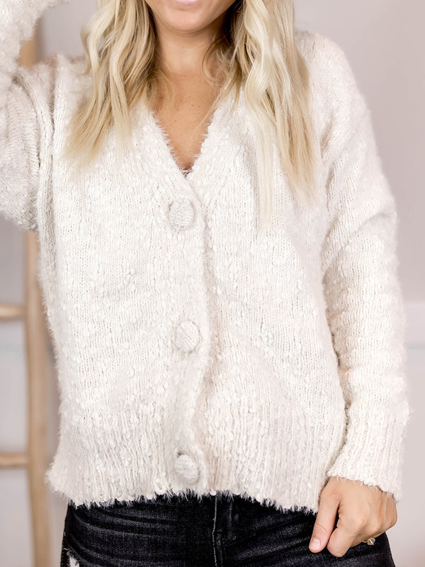Ivy Big Button Cardi