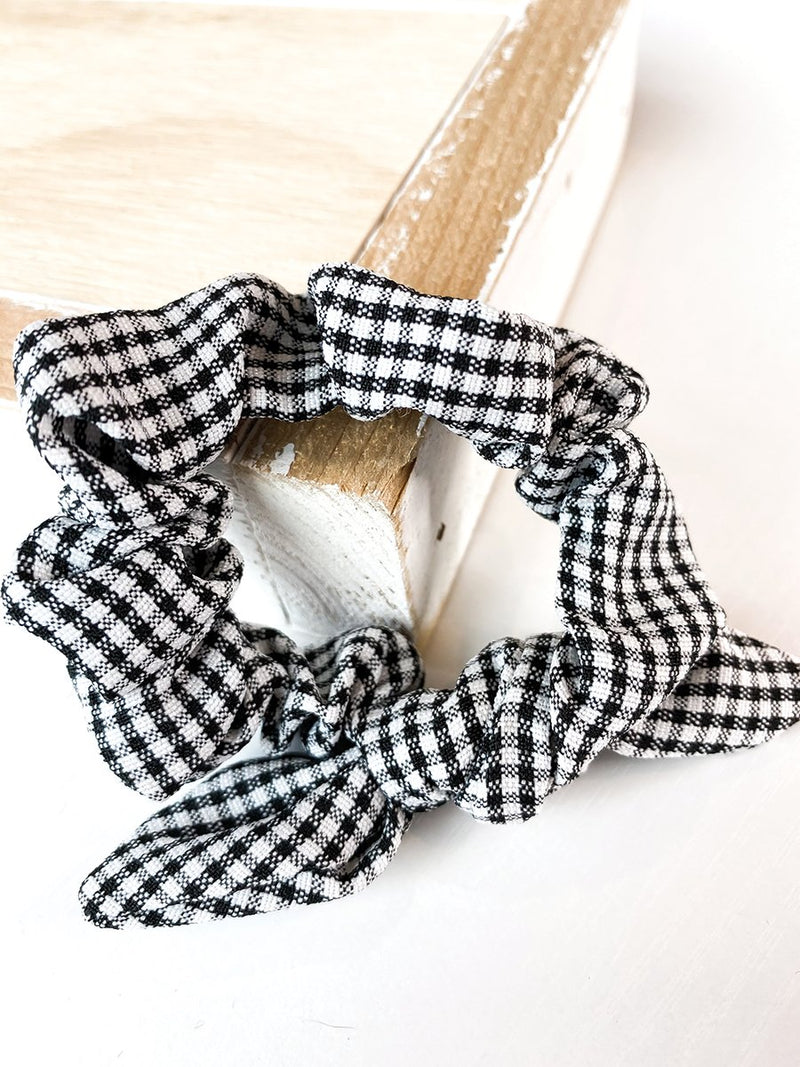 Gingham Checked Scrunchie