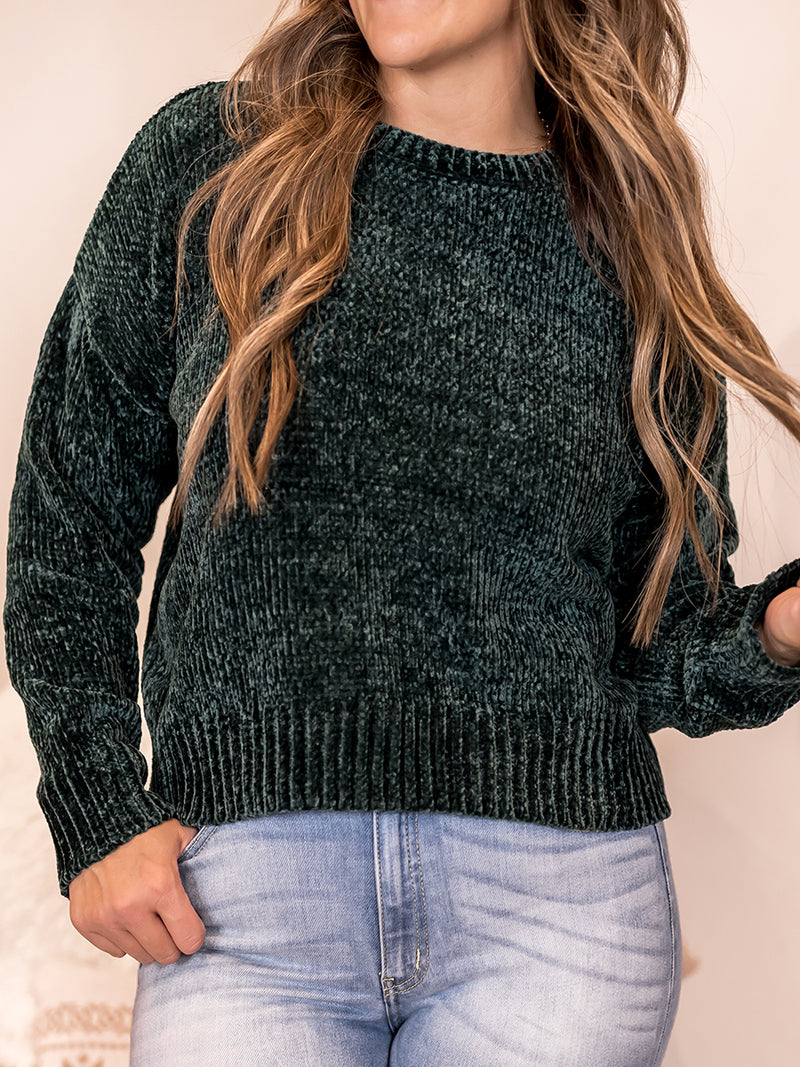 Northern Pine Chenille Sweater
