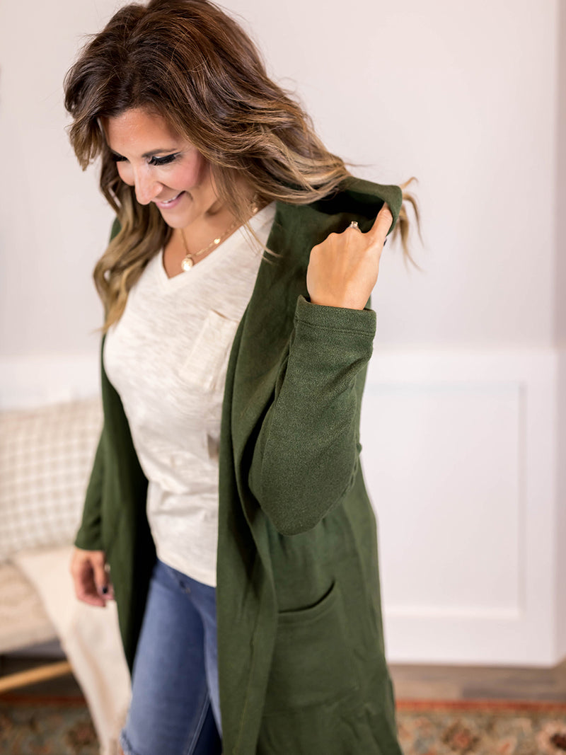 Rosalind Hooded Cardigan